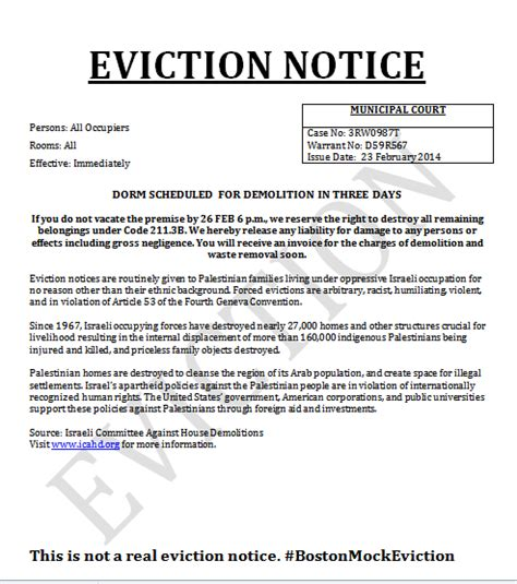 printable sample notice  eviction form   real
