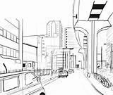 Japan Japanese Building Drawing Getdrawings sketch template