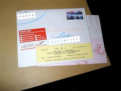 Sender Return Mail Letter Sticker Sent Couldn