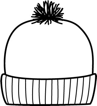 winter hat template page image with words