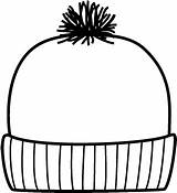Hat Winter Coloring Pages Do2learn Words sketch template