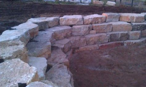 boulders for retaining wall fishers indiana retaining walls landscape design creative outdoor living fishers indiana