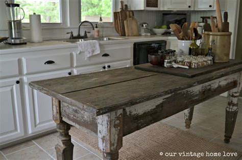 farmhouse table in the kitchen vintage decor in 2019