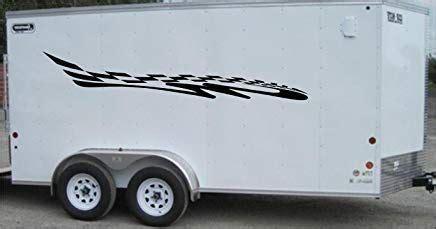 checkered flag racing trailer decals stickers murals set