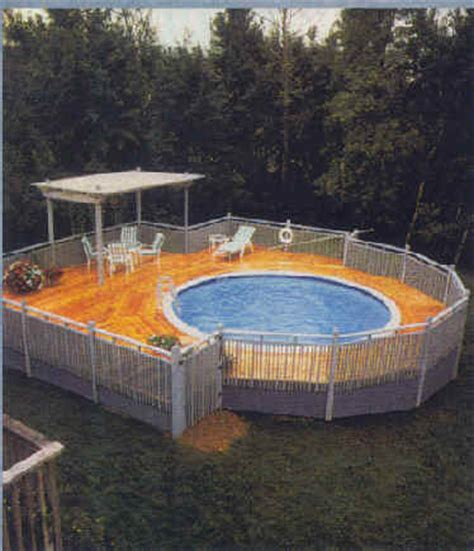 above ground pool decks pool design ideas pictures