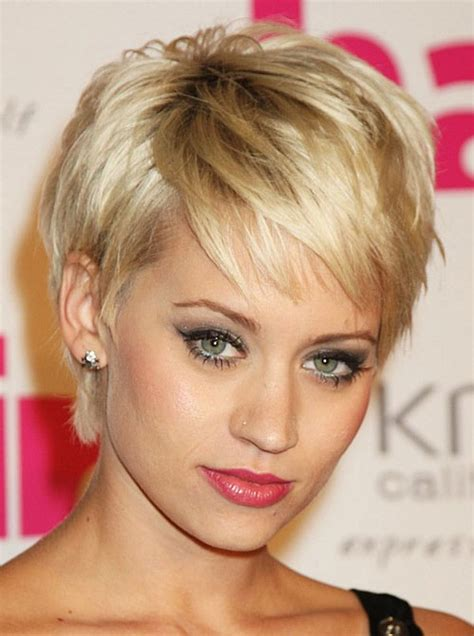 sensational short hairstyles  oval faces creativefan