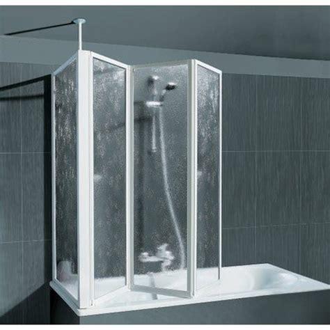 duschkabine für die badewanne schulte badewannenfaltwand 3 tlg