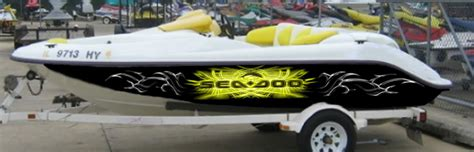 Yellow Boat Wraps by Wraps For Seadoo Boats Sea Doo Forum