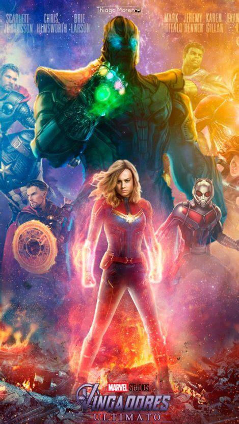 avengers endgame captain marvel poster iphone wallpaper