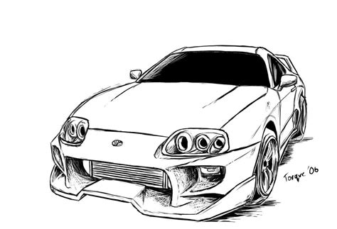Toyota Supra, Drawings, Toyota