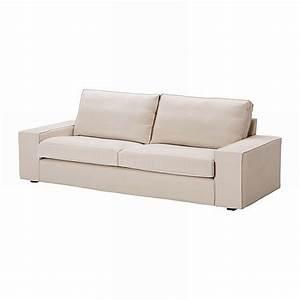 IKEA KIVIK 3 Seat Sofa SLIPCOVER Cover INGEBO LIGHT BEIGE