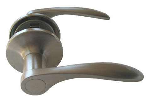 Passage Brushed Nickel Door Knob Lever Handle Hall Way