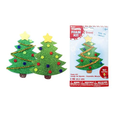 christmas foam crafts foam tree kits 6 pack