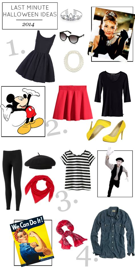 four costumes already in your closet