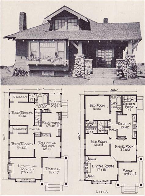 craftsman style bunglow house plan      stillwell  small house addict