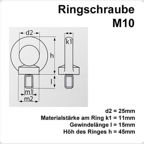 sowero sonnensegel edelstahl ringschraube mit m10 gewinde für 1 88