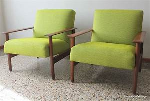 Chaise Scandinave Verte : fauteuils scandinave 80 39 s vert inspiration vintage ~ Teatrodelosmanantiales.com Idées de Décoration