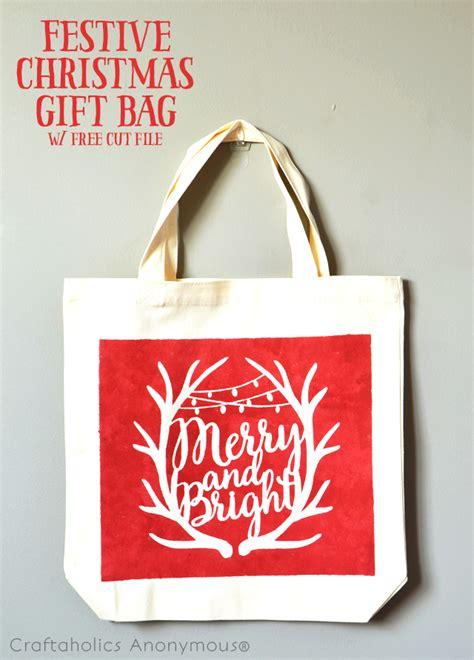 craftaholics anonymous 174 festive christmas gift bag with