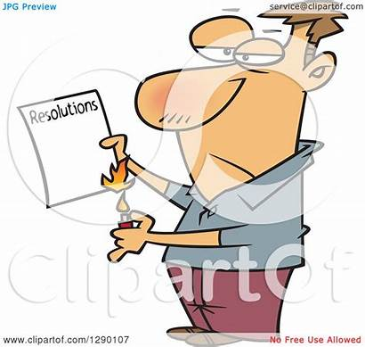 Burning Resolutions Clipart Failed Cartoon Caucasian Illustration