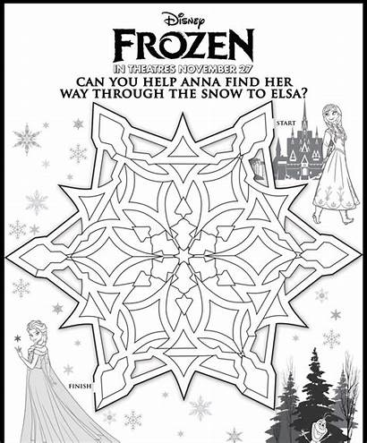Frozen Maze Disney Mazes Activity Activities Sheets