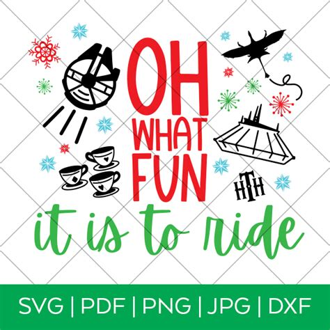 Home decor palette signs clothing, tees tumblers stationary party items embroidery designs wall art. Oh What Fun it is to Ride SVG - Disney Christmas - DIY ...