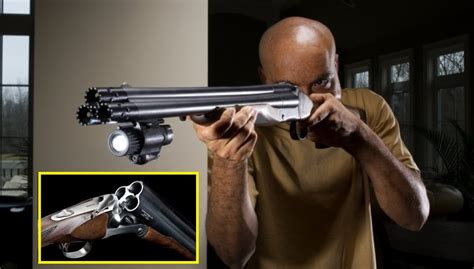 triple barrelled shotgun     coolest