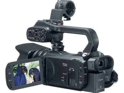 canon xa hd camcorder   view lcd folded   handle