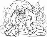 Bigfoot Coloring Premium Coloriage Livre Sasquatch Vector Orignal Colorear Libro Freepik Vektoren Walks Forest Through Speichern Vecteur Sauvegarder sketch template