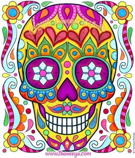 sugar skull   posh coloring calendar  thaneeya