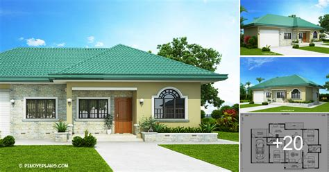 One Storey Bungalow House with 3 Bedrooms Pinoy ePlans