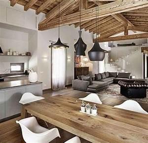 Living Open Space Con Cucina A Vista