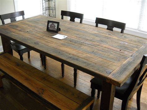 Wood Kitchen Furniture by Furniture Diy Rustic Farmhouse Kitchen Table Made From