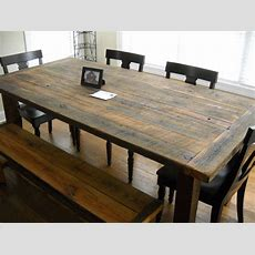 Furniture, Diy Rustic Farmhouse Kitchen Table Made From