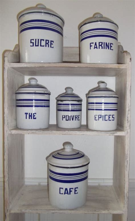 enamel kitchen canisters antique enamelware kitchen canisters vintage
