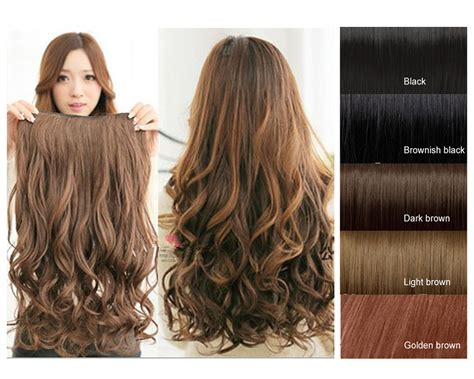 hair extensions one 5 clip on synthetic wavy human hair