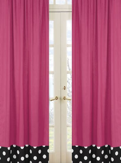 black and pink curtains pink black white polka dot window curtains drapes