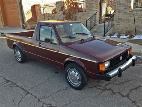volkswagen rabbit truck 1982 purchase used 1982 vw rabbit pickup caddy extremely nice
