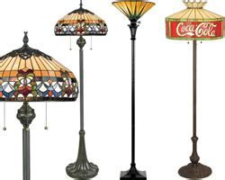 Art Nouveau Torchieres, Floor and Table Lamps   Brand