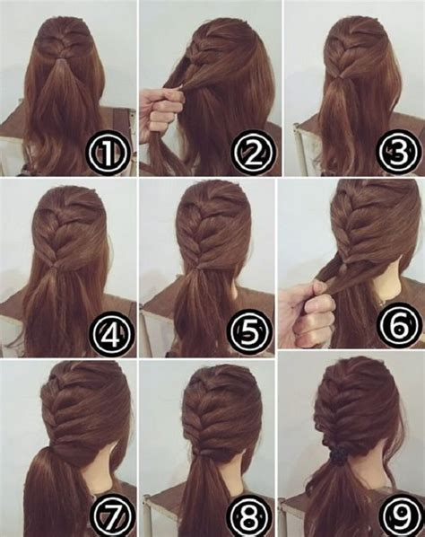 easy hairstyles  long hair fashion beauty