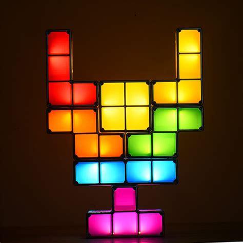 Tetris Stackable Led Desk L Nz by Best 7pcs Diy Tetris Puzzle Led Eu Sale