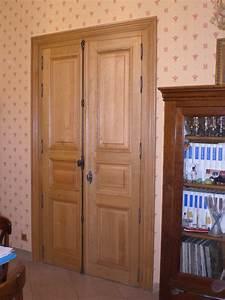 porte double salon bois menuiserie gerard mercuzot With porte de garage enroulable et porte de salon double