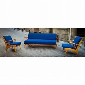 salon scandinave fauteuils et canape danois With canapé danois