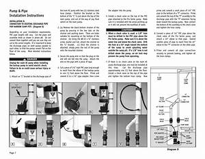 Pump  U0026 Pipe Installation Instructions