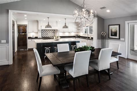 Living Room Dining Room Gray by Open Concept Kitchen Living Room Floor Plans