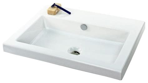 Rectangular Sinks Bathroom by Rectangular Wall Mounted Or Built In Ceramic Sink