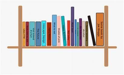 Bookshelf Clipart Shelf Books Simple Clip Library