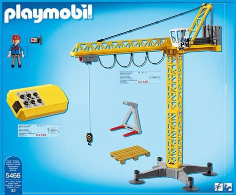 Playmobil Large Crane With Ir Remote Control 5466 Table