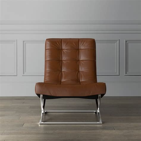 james nickel leather chair quick ship williams sonoma