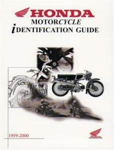 Honda Identification Guide Atv Motorcycle And Scooter 1959