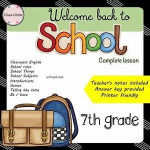 Back to School Lesson Plans and Activities - 7th Grade ESL ...
